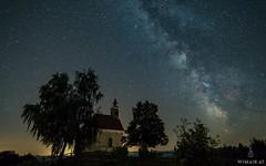 Theresian Chappel I (Wim Air) Tags: milky way stars milkyway chappel church night clear sky summer southern styria austria südsteiermark