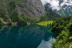 DSC_3665 (svetlana.koshchy) Tags: obersee lake berchtesgaden berchtesgadener land germany landscape alps alpen mountains mountain reflection clouds deutschland