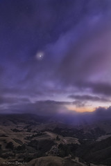 Hills and Clouds (smbrooks_2000) Tags: cambria california sky clouds moon stars valley sunset