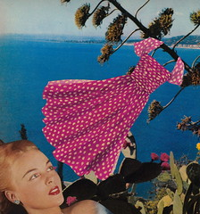 Breezy Dress (Angie Naron) Tags: art collage collagebyangienaron summer breezydress polkadotdress summerdress seascape beautifulblonde thekollagekit wwwkollagekitblogspotcom