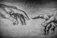 The creation of Adam (Shenghung Lin) Tags: adam painting hands god replica genesis michelangelo fresco 米開朗基羅 sistinechapelsceiling 創造亞當