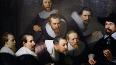 Rembrandt, The Anatomy Lesson of Dr. Tulp, detail with portraits