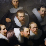 Rembrandt, The Anatomy Lesson of Dr. Tulp, detail with portraits thumbnail