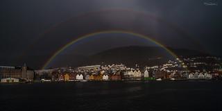 Rainbow over Bergen Harbor