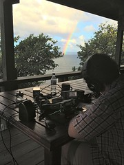 Craig from his operating station with rainbow-700