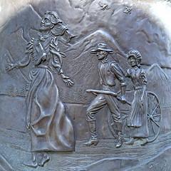 Nellie Pucell Unthank, SUU Campus, 5 April 2015 (4) (Bob Palin) Tags: 15fav usa bronze canon utah mormon pioneer handcart ironcounty cedarcity club100 100vistas instantfave canonef24105mmf4lisusm jerryanderson nelliepucellunthank suucampus orig:file=2015040500799square800