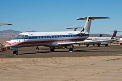 N700LE ERJ-135 (Centreline Photography) Tags: arizona plane canon airplane airport desert aircraft aviation airplanes flight aeroplane american planes chrishall americaneagle flughafen americanairlines runway boneyard spotting airliner airliners embraer kingman planespotting flug spotters erj igm erj135 n700le eos400d kigm aircraftstorage centrelinephotography