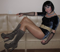 306 (ilonamf) Tags: sexy ass shiny highheels boots slut platform makeup prostitute hose sissy bitch transvestite heels hooker pantyhose crossdresser crosdresser shinypantyhose crossdrsser crodresser girlyboys