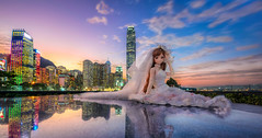 From Hong Kong with Love (Ateens Chen) Tags: city longexposure wedding portrait people lightpainting building landscape hongkong nikon bluehour dd volks ateens whitealbum dollfiedream perspectivecontrol tiltshiftphotography pcenikkor24mmf35ded ボークス ogatarina 緒方理奈
