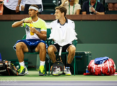 Pablo wondering what today's changeover chat topics will include (mirsasha) Tags: california march atp tennis indianwells 2015 rafaelnadal bnpparibasopen pablocarreñobusta