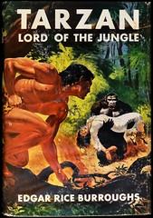 """Tarzan Lord of the Jungle"" by Edgar Rice Burroughs. NY: Grosset & Dunlap, (1948). Reprint edition.  Art by C. Edmund Monroe (lhboudreau) Tags: 1948 book dj gorilla books burroughs ape apeman tarzan bookart edgarriceburroughs hardcover dustjacket reprint vintagebook damselindistress vintagebooks erburroughs bookcoverart hardcovers lordofthejungle hardcoverbooks damselsindistress hardcoverbook grossetdunlap reprintedition dustjacketart ladyinperil tarzanlordofthejungle cedmundmonroe"