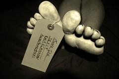 Died April 1st..... (jamiedirkie) Tags: dead foot toe jane time body tag doe teen corpse morgue