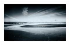 Out To Sea I (Frank Hoogeboom) Tags: sea white black holland art beach water netherlands monochrome waddenzee dark island photography vlieland wadden waddeneiland sand long exposure north fine nederland friesland