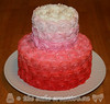 Rosettes Baby Shower Cake