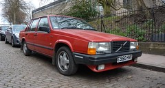 a car fit for a King (Sam Tait) Tags: volvo 740 744 turbo intercooler red redblock leicester city england saloon 80s car retro cool classic rare automatic auto 182bhp turbobrick turbobricks