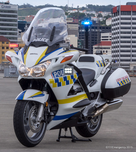 NZ Police Honda Motorcycle
