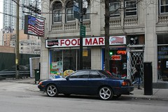 Ess-Tee (Flint Foto Factory) Tags: city blue urban chicago car st japanese march store illinois spring granville winthrop side profile north 1988 headlights front neighborhood hidden 80s toyota 1989 1980s sheridan import coupe edgewater celica headlamps 2015 worldcars americanfoodmart