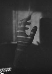 as (sam again) Tags: light portrait bw film hand sam testing