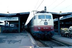 103 156  Offenburg  25.03.78 (w. + h. brutzer) Tags: analog train germany deutschland nikon eisenbahn railway zug trains db offenburg locomotive 103 lokomotive elok eisenbahnen e03 eloks webru
