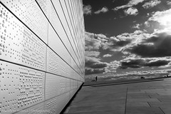 Oslo Opera House #4 (eenty) Tags: city sky bw white oslo norway architecture modern clouds opera operahouse blackwhiteblack oslooperahouse
