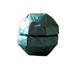 Death Star (Modular) - Rear (starwarigami) Tags: starwars origami modular spacestation deathstar starwarsorigami origamistarwars