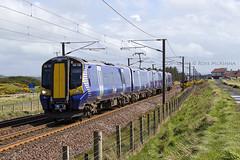 380108 1K44 (Rossco156433) Tags: electric train outside scotland siemens scotrail emu motor irvine levelcrossing ayrshire nederlandsespoorwegen northayrshire desiro gailes abellio class380 380108