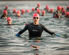 Triathalon Swim Start (Chris Willis 10) Tags: people sport race swim ride action cycle triathlon southport