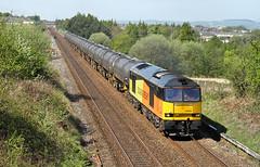 Colas 60 Near Hapton. (Neil Harvey 156) Tags: railway tug colas class60 hapton 60056 bitumentanks colasrail 6e32 prestondockstanks prestontanks