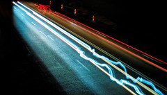 Electric Light (Al3xFlorin) Tags: blue light red electric dark nokia long exposure low trails 808 pureview
