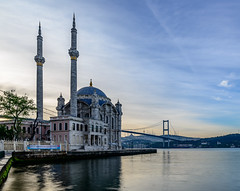Ortakoy Mosque - Istanbul (Aleem Yousaf) Tags: bridge reflection sunrise turkey photo nikon walk istanbul mosque bosphorus d800 ortakoy 1835mm