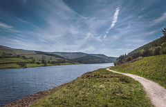 Ladybower (Steve Millward) Tags: blue england sky cloud nature water grass season landscape countryside nikon raw outdoor derbyshire peakdistrict wide perspective scenic wideangle sharp d750 20mm fullframe fx ultrawide highpeak ladybowerreservoir primelens imagequality fixedfocallength