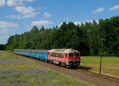 M41 2143 - Felspakony (Kornl Tili) Tags: landscape rail railway mv vonat vast mozdony lajosmizse csrg szemlyvonat m412143 418143