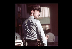 ss23-27 (ndpa / s. lundeen, archivist) Tags: people man color film hat boston uniform massachusetts nick police slide weapon cop pistol sideburns slideshow mass 1970s whistle policeman bostonians bostonian dewolf uniformed early1970s nickdewolf photographbynickdewolf slideshow23