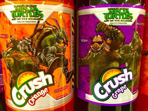 Teenage Mutant Ninja Turtles Movie Orange and Grape Crush Soda Pop! 5/2016, by Mike Mozart of TheToyChannel and JeepersMedia on YouTube #Ninja #Turtles #Crush #Soda #Pop