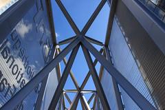 Enchevtrement (StephanExposE) Tags: sky paris france building canon architechture library reflet ciel reflect bnf bibliothque iledefrance batiment 1635mm 600d 1635mmf28liiusm stephanexpose