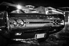 automobile (ale_brando) Tags: street old monochrome car lights mono blackwhite automobile dof view streetphotography plymouth fx frontview darkeness veicle fronf niksoftware d700 nikonfx silverefexpro