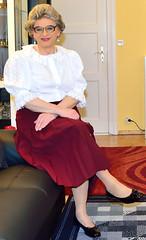 Ingrid022090 (ingrid_bach61) Tags: skirt blouse mature pleated ruffled faltenrock rschenbluse