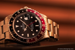 Coke GMT (Simon Greig Photo) Tags: red black macro closeup studio swiss watch coke timepiece rolex gmtmasterii