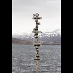 Sign Post to the World (JoshJackson84) Tags: canon60d sigma18250mm europe iceland eastfjords easterniceland eskifjrur fjord sign signpost