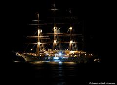 The SEA CLOUD by night... (Alessandro Lo Piccolo Hollweger) Tags: seascape silhouette nightscape vessel sicily windjammer sailor taormina naxos giardini seacloud