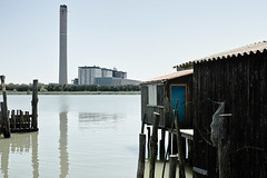 pila (aleazzo) Tags: italy river landscape fishing sigma delta po powerplant merrill veneto fishingshacks polesine dp2m