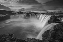 'Mono-Foss' - Godafoss, Iceland (Kristofer Williams) Tags: longexposure winter bw cloud monochrome river landscape mono waterfall iceland le godafoss neiceland skjlfandafljt