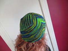 IMG_5109 (alysraen) Tags: blue green hat blunt damp madelinetosh martinabehm