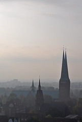 Germany - Lbeck - view from Petrikirche - Dom (Harshil.Shah) Tags: world heritage germany deutschland site dom unesco luebeck lbeck petrikirche lbeckerdom domzulbeck
