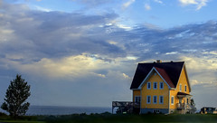 The Yellow sunset (Danny VB) Tags: atlantic canon summer august clouds sea ocean house yellow yellowhouse yellowsunset sunset 6d tree light water granderivière gaspésie québec canada skies dannyboy photo photography