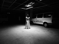 Susto. (gabrielainfante) Tags: abandoned girl hospital photoshoot venezuela horror terror maracaibo sotano creppy gicfotografia