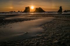 Ripples in the Sand (elaine_calvert) Tags: ocean sunset beach oregon sand ripples bandon