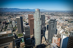 20160721 DTLA Aerial -8 (Tony Castle) Tags: aerial photography helicopter heli canon 5diii sony a7rii mirrorless sigma mc11 converter sky city la dtla los angeles traffic