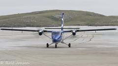 G-SGTS De Havilland Canada DHC6 Twin Otter Loganair Barra Airport EGPR 22.06-16 (rjonsen) Tags: beach scotland airport twin otter barra loganair taxying