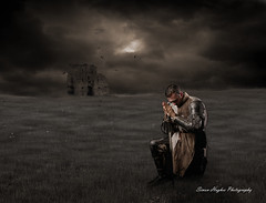 Praying for others (Simon J Hughes) Tags: knight pray praying castle night